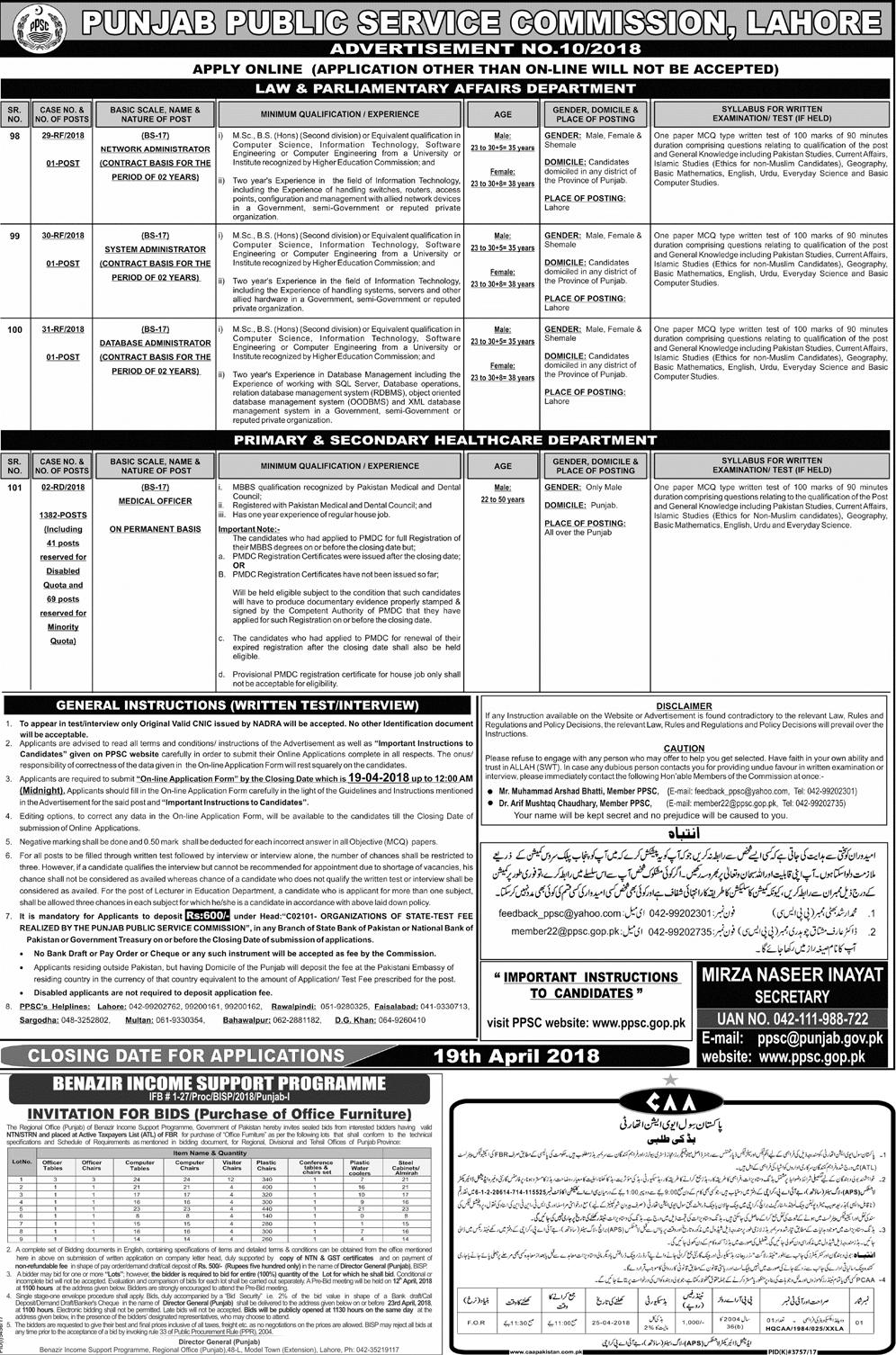 Punjab Public Service Commission Jobs 2018 Medical Officer