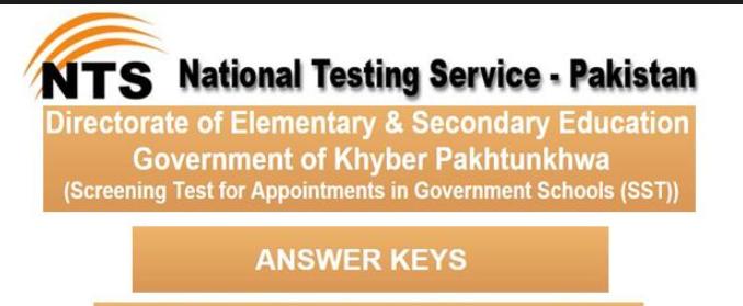 KPK Educator jobs anwer keys