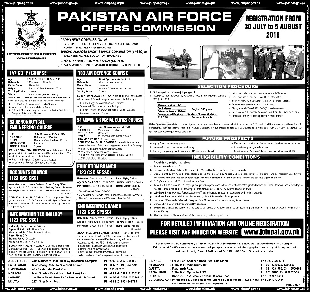pakistan Air force Service Commission