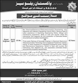 Pakistan Railway Karachi Jobs 2018 Apply Online