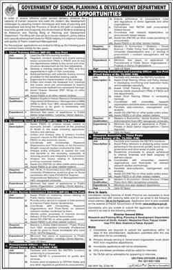 Planning & Development Department Sindh Jobs 2018 Download Application Form
