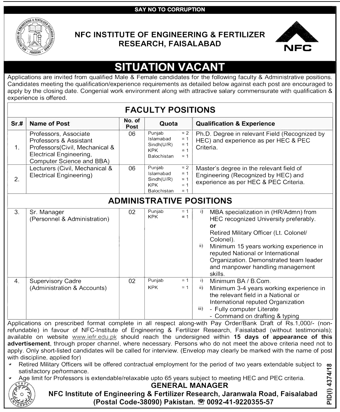 NFC-Insute-of-Engineering-Fertilizer-Research-Faisalabad-Jobs-2019 Job Application Form Civil Engineers on new school, us lottery, for namwater, divine word university, naba scholarship, for miss glamorous, jee exam, junior engineer job, flomaton police, for p1 teachers, nigeria govt diploma online,